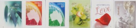 Aus SG3923-8 Special Occasions 2013: Greetings set of 6 self adhesives from booklets (exSB426-30)
